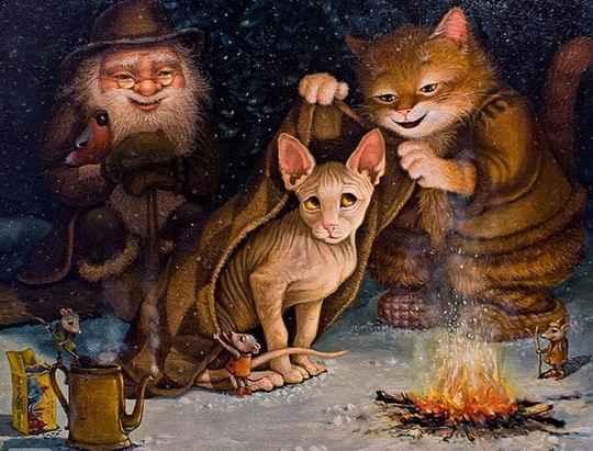 Это потрясающе милая и смешная серия историй о приключениях домового и его верного спутника — кота. Часть 26