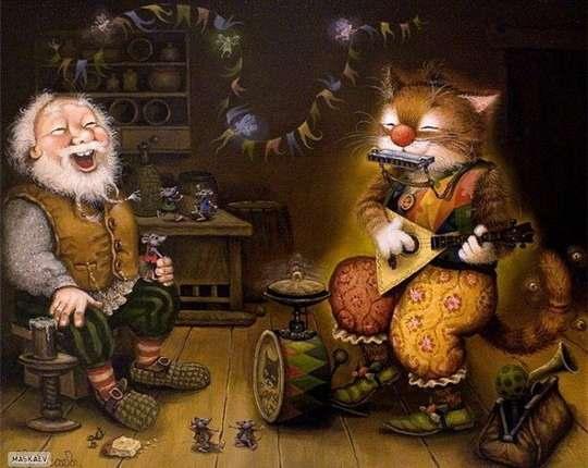Это потрясающе милая и смешная серия историй о приключениях домового и его верного спутника — кота. ...продолжение. Часть 28