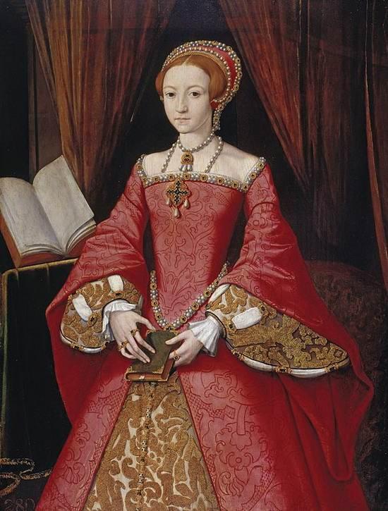 Портрет 13-летней Елизаветы. 1543. Изображение: cardinal-creations.com