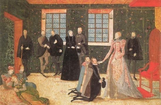Елизавета принимает голландских послов. 1560-е. Изображение: pinterest.com