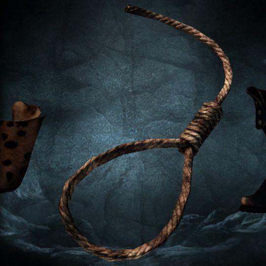 Анатолий затянул узел, затем расслабил, после снова затянул.