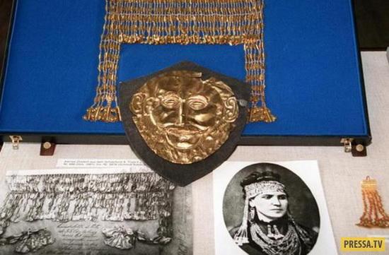 Находки Шлимана и знаменитое фото его жены