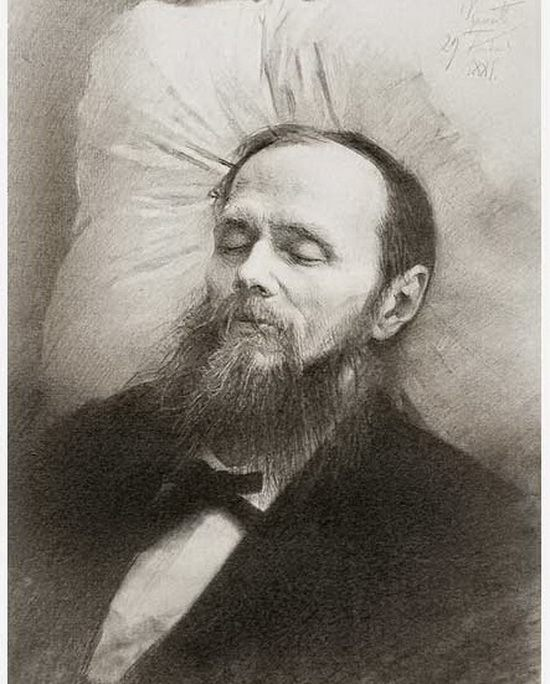 Посмертный портрет Ф. М. Достоевского (художник И. Н. Крамской)