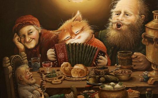 Это потрясающе милая и смешная серия историй о приключениях домового и его верного спутника — кота. Часть 3