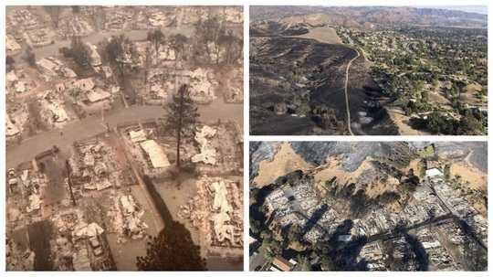Пожары в Калифорнии за неделю разрушили территорию площадью 65 тыс. га.