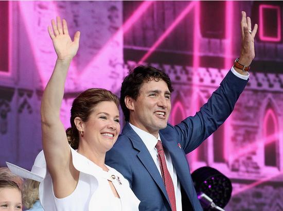 Премьер-министр Канады Джастин Трюдо с супругой Софи, 2017 год