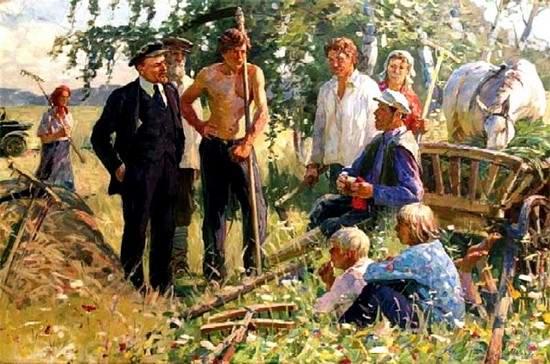 Шапаев Ф.В. «В.И. Ленин с крестьянами»