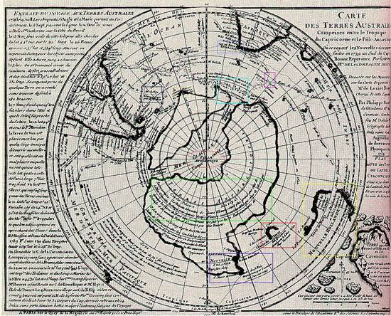древняя карта антарктиды без льда