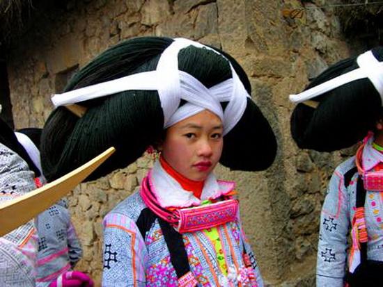 Женщины мяо (Китай, Азия)