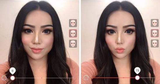 Но и этого было мало, ведь китаянки ещё используют приложения, в которых можно немного менять форму лица