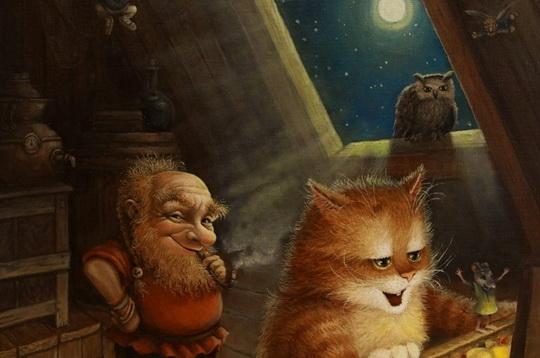Это потрясающе милая и смешная серия историй о приключениях домового и его верного спутника — кота. Часть 32