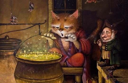 Это потрясающе милая и смешная серия историй о приключениях домового и его верного спутника — кота. Часть 33