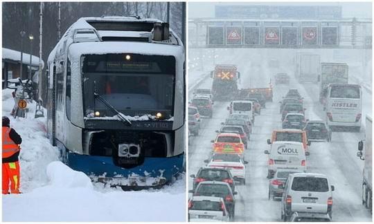 Европа утопает в снегу - только в одной Австрии за этот месяц снега выпало больше, чем обычно выпадает за весь январь.
