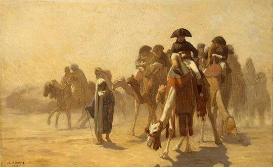 Египетская кампания французской армии 1798-1801 г.г. под руководством талантливого полководца Бонапарта закончилась поражением вверенных ему войск.