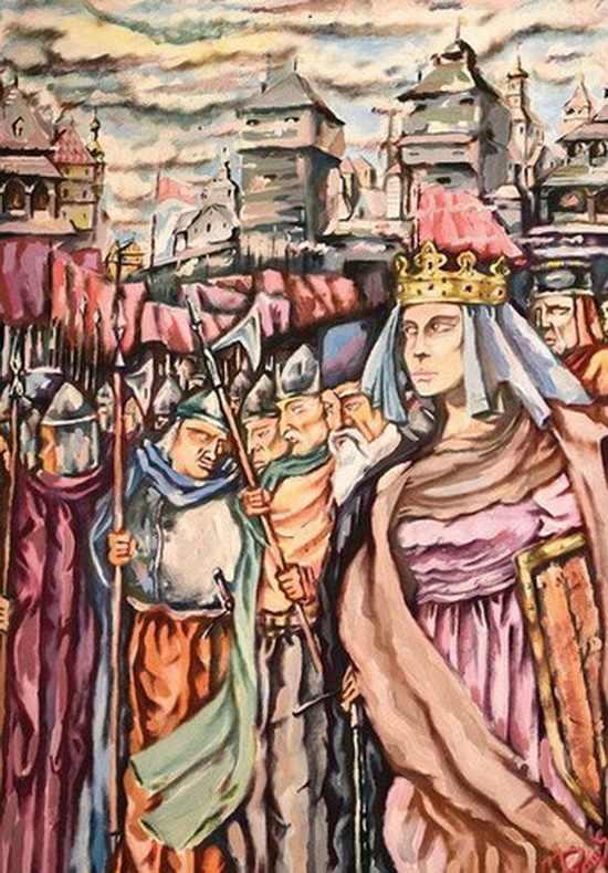 «Анастасия Слуцкая». Автор: Михаил Дайлидов, 2005 год. Детская художественная школа.