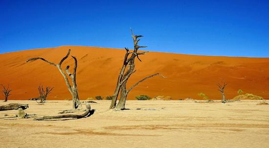 Намибийский декабрьский пейзаж, популярное туристическое место Соссусфлей