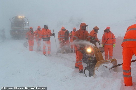 Работы по уборке снега в Германии