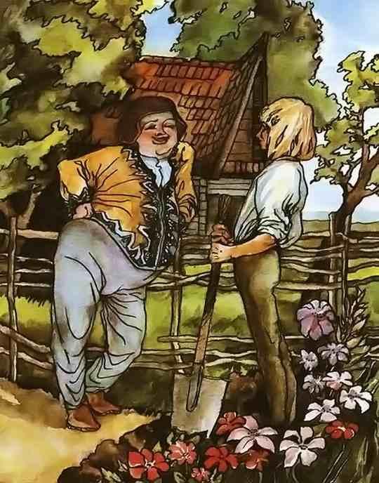 Жил однажды маленький честный юноша, которого звали Гансом. У него было доброе сердце и добродушное лицо. Будучи сиротой, он жил совершенно один.