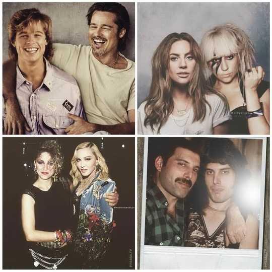 Голландский художник Ард Гелинк при помощи фотошопа разместил известных людей в молодом и старшем возрасте на одной фотографии.