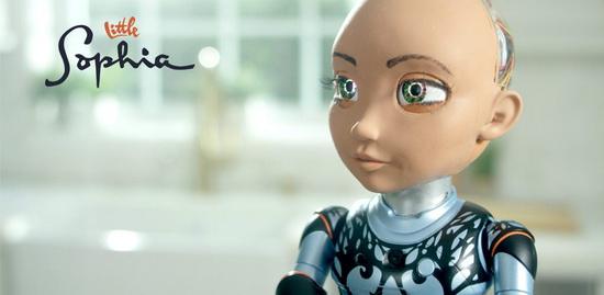 Маленькая София помещена в тело робота высотой всего 36 см, однако она умеет ходить, ориентироваться на местности и танцевать.