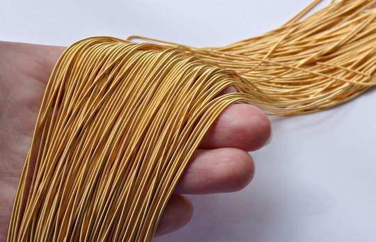 Позаимствованное из французского языка слово «канитель» означает тончайшую нить — серебряную или золотую