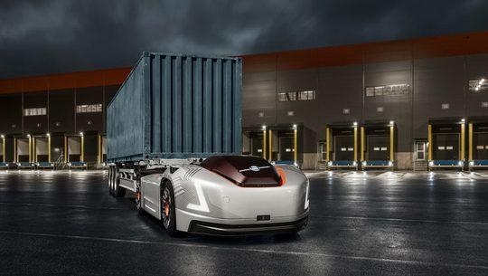 Volvo Trucks Vera – это реализация концепта электрического беспилотного тягача, у которого полностью отсутствует кабина.