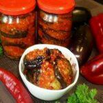Острый салат с баклажанами «Тещин язык» на зиму