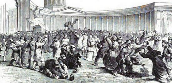 Изображение Казанской демонстрации в одной из французских газет