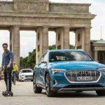 E-tron Scooter – новый гибрид скейтборда и электросамоката от Audi