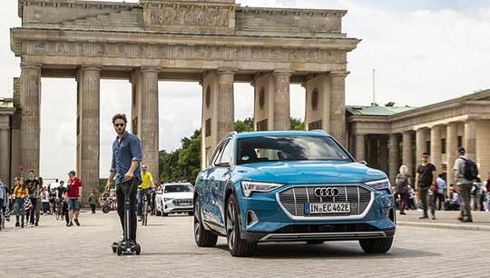 Немецкая компания Audi продемонстрировала оригинальный электросамокат.