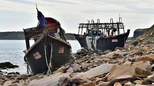 Российские пограничники, занимающиеся охраной морских биологических ресурсов, задержали более 80 граждан Северной Кореи, занимавшихся браконьерством