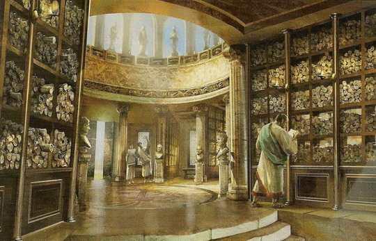 Александрийская библиотека была одной из самых крупных в античном мире