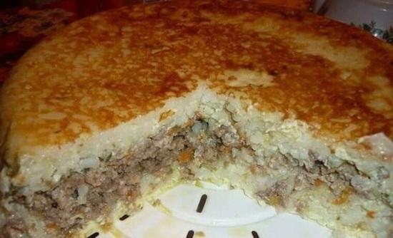 Рисовая запеканка с мясом