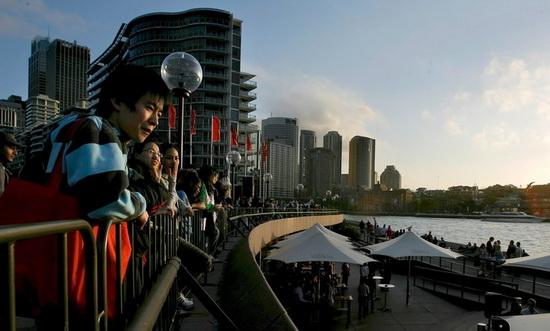 китайские туристы в австралии