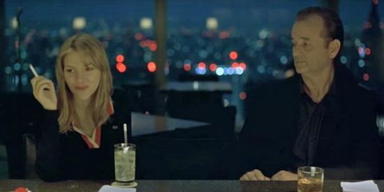 Йоханссон и коллега по фильму Билл Мюррей в фильме «Трудности перевода».