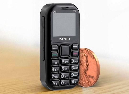 Самый маленький телефон в мире модели Zanco Tiny T1 был представлен в 2017 году и завоевал немало поклонников.