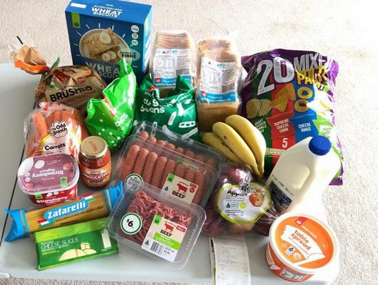 Среди покупок наиболее часто используемый набор продуктов