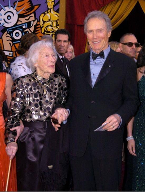 Клинт Иствуд и его мать Рут Вуд