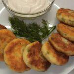 Сырники с зеленью и чесноком