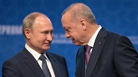 встреча между Путиным и Эрдоганом