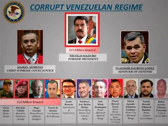 Власти Власти Соединенных Штатов предъявили обвинение в причастности к наркотерроризму президенту Венесуэлы Николасу Мадуро