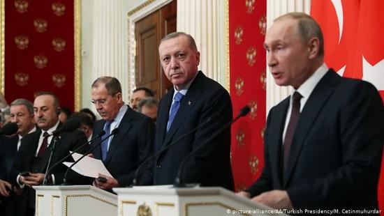 Путин на пресс-конференции после переговоров с Эрдоганом