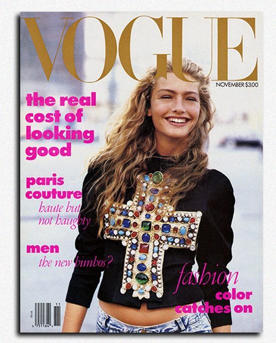 Обложка американского Vogue, 1988