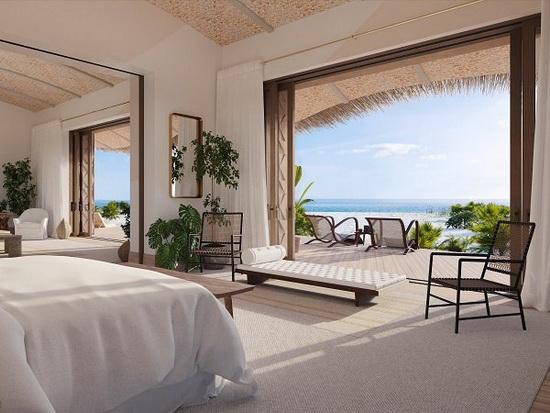 Материалы для интерьеров 12 бунгало курорта и их фасадов будут напечатаны в 3D, наряду с коралловыми рифами и морскими обитателями.
