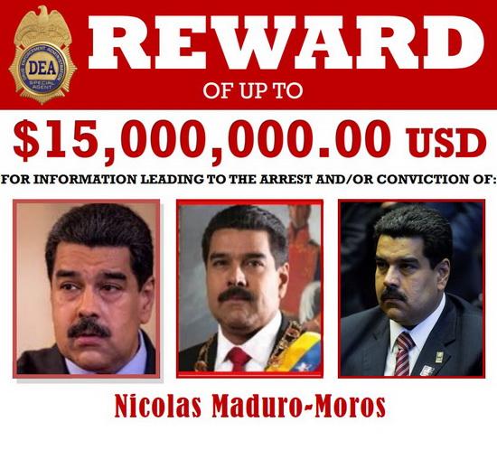 """В обвинении, выдвинутом в отношении Николаса Мадуро, председателя Конституционной ассамблеи Венесуэлы Дьосдадо Кабельо, бывшего главы военной разведки страны Уго Карвахаля, отставного генерал-майор Кливера Антонио Алькала Кордонеса, говорится о наличии сговора и контактах с крайне опасной террористической организацией, известной как """"Революционные вооруженные силы Колумбии"""" (РВСК). Кроме того, по версии следователей, обвиняемые причастны к попыткам """"наводнить Соединенные Штаты кокаином"""". Причем наркотики использовались в качестве """"оружия"""" против США, с целью """"подорвать здоровье и благополучие американской нации"""". Фигурантам, включая Мадуро, грозит пожизненный срок лишения свободы"""