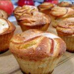 Кексы с яблоками в силиконовой форме