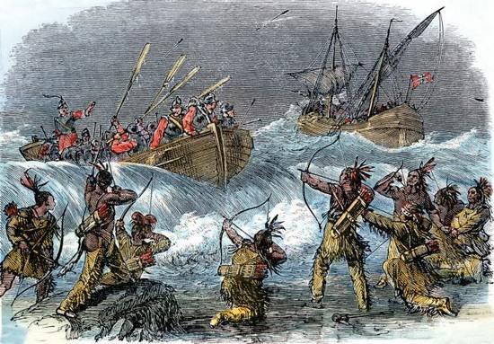 Индейцы против европейцев