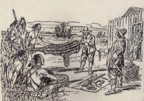 Торговля аборигенов и колонизаторов