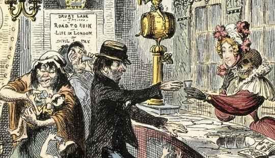 В XVIII веке бухло чуть не погубило Лондон и всю Англию