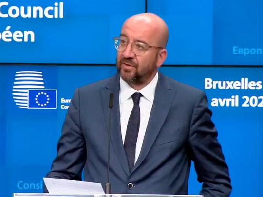"""Главы государств и правительств 27 стран Евросоюза одобрили """"дорожную карту"""" экономического восстановления ЕС после кризиса COVID-19, сообщил глава Европейского совета Шарль Мишель."""